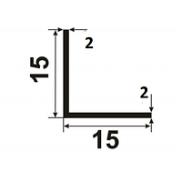 Алюминиевый уголок 15х15х2 без покрытия