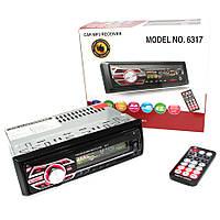 Автомагнитола Pioneer 6317 с USB, FM, AUX, 4*50W Сменная подсветка! ХИТ!