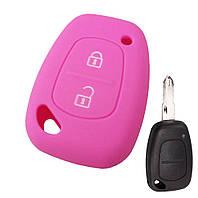 Силиконовый чехол на корпус ключа Renault Kangoo  1997->2008 - DSP (Китай)—   PGPINK