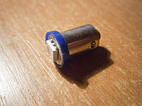 Светодиодная лампа BA9S-5050-1smd  синего свечения.
