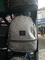 Рюкзак женский серебро шанель