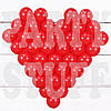Матрица для воздушной фигуры из шаров, сердце