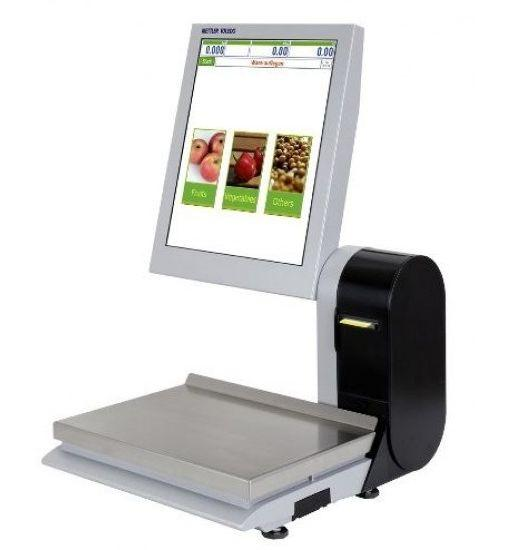 Торгові ваги з друком етикетки і сенсорним дисплеєм Mettler Toledo UC-GLT-M до 15 кг (дисплей 17ʺ)