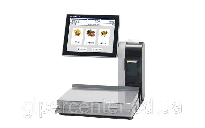 Торговые весы с печатью этикетки и сенсорным дисплеем Mettler Toledo UC-GTT-M до 15 кг, точность 2/5 г