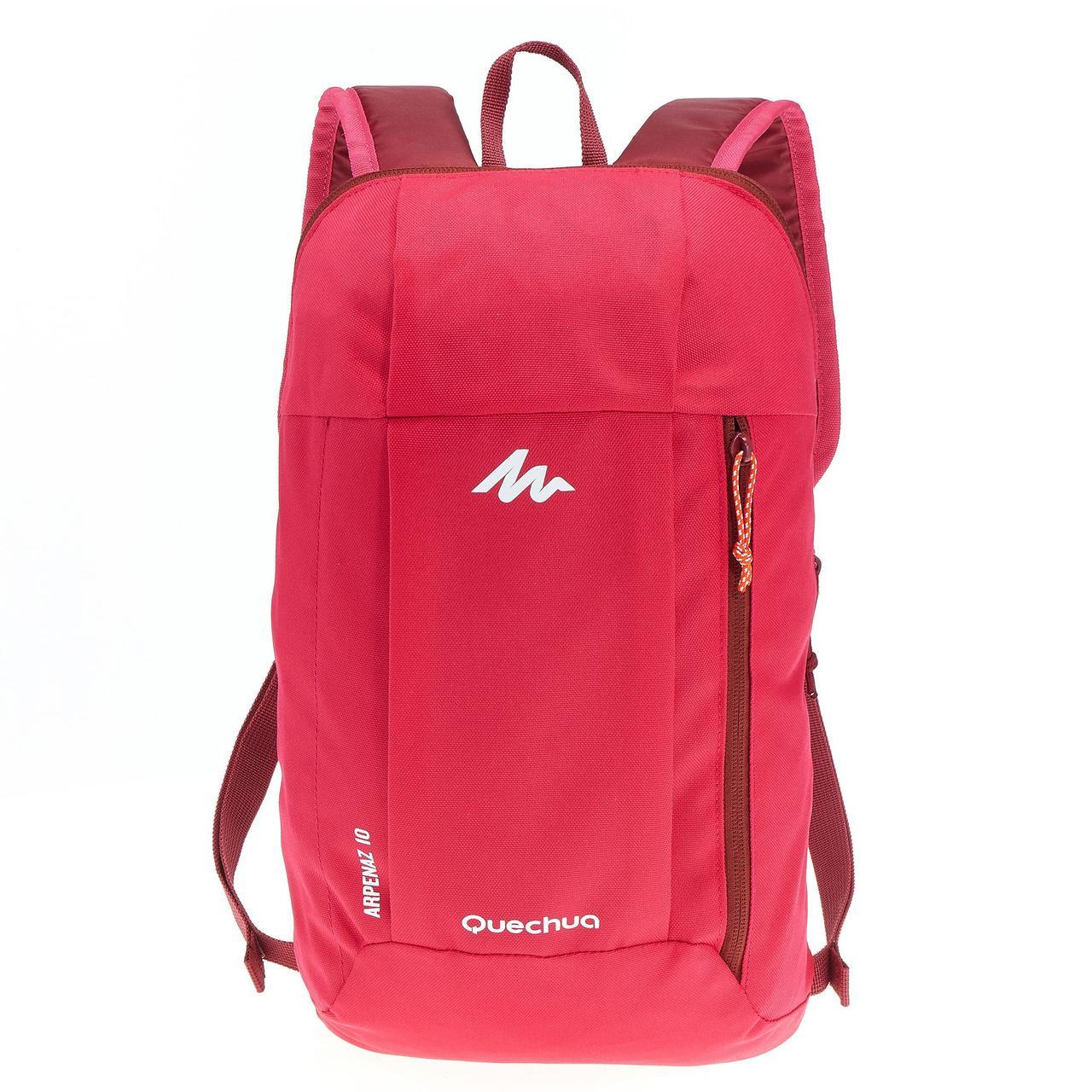 Городской рюкзак Quechua 10л. красный (рюкзак для спорта, спортивные р