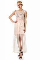 Платье, Цвет персик, S-L размеры