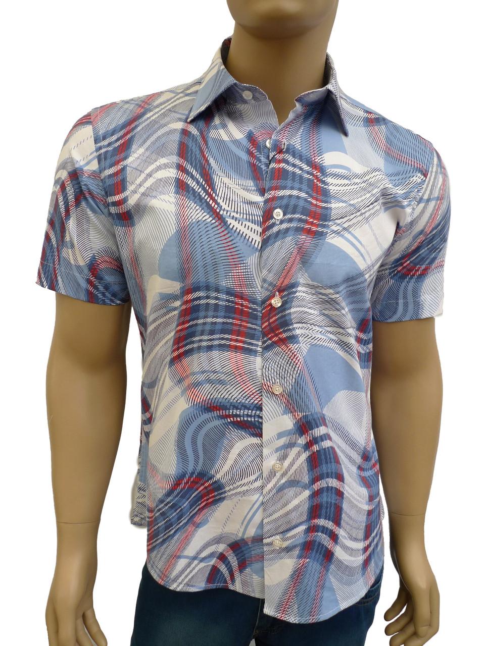 модная приталенная рубашка