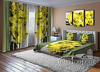 """ФотоКомплект """"Желтые орхидеи"""" для спальни"""