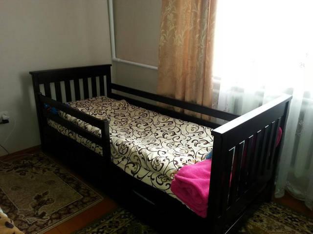 """Фото кровати """"Адель"""" 80*190 цвет """"Венге"""" матрас высота 20 см"""