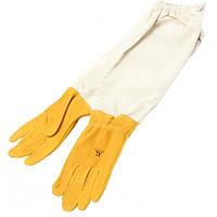 Перчатки пчеловода желтые
