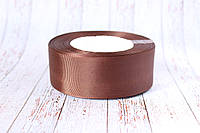 "Репсовая лента 4 см, 25 ярд/рулон, цвета ""шоколад"""
