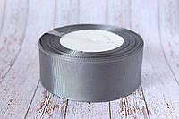 Репсовая лента 4 см, 25 ярд/рулон, темно-серого цвета , фото 1