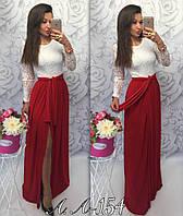 Вечернее длинное  платье с гипюром в размере S-M