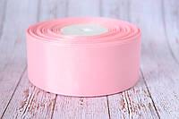 Репсовая лента 4 см, 25 ярд/рулон, нежно-розового цвета