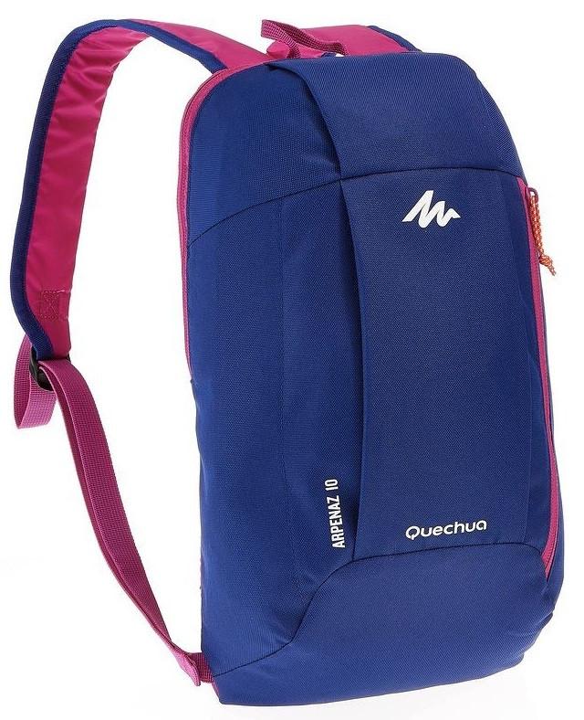 Городской рюкзак Quechua 10л. синий с розовым (рюкзак для спорта, спор