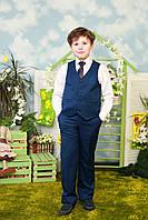 Костюм синий жилетка брюки для мальчика