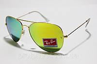 Солнцезащитные очки Ray Ban Aviator Стекло, капли ( Рей Бен Авиатор ), очки солнцезащитные женские