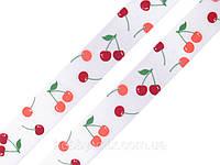 Лента сатиновая вишня 22 мм