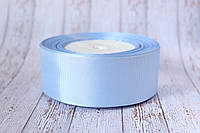 Репсова стрічка 4 см, 25 ярд/рулон, ніжно-блакитного кольору