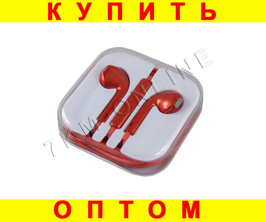 Наушники для техники Apple Красный хром