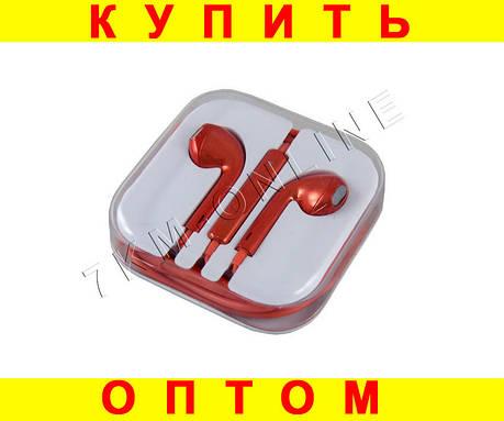 Наушники для техники Apple Красный хром , фото 2