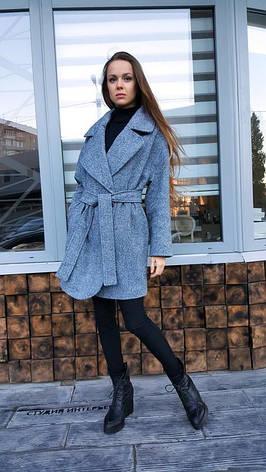 Твидовое пальто стиля оверсайз , фото 2