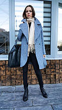Твидовое пальто стиля оверсайз
