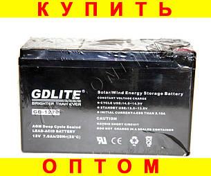 Аккумулятор GDLITE 1270 12 v-7.0 ah 1840 gm + ПОДАРОК: Настенный Фонарик с регулятором BL-8772A, фото 2