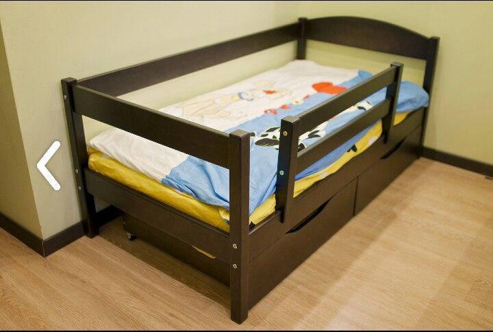 """Кровать детская """"Мартель"""" подросковая массив бука размер 70*140"""