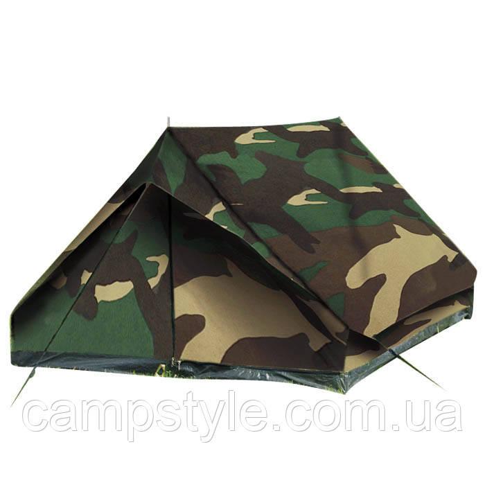 Двух местная палатка Mil-Tec Mini Pack Standard Woodland