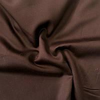 Сатин Люкс однотонный коричневый (шоколадный), ширина 240 см