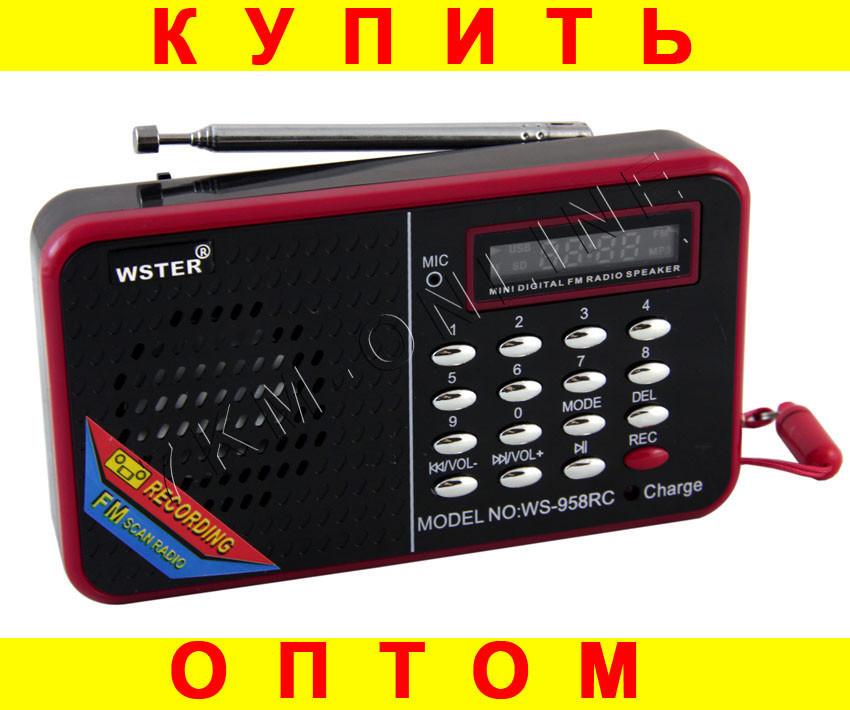Портативный радиоприемник WS-958RC USB microSD