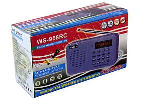 Портативный радиоприемник WS-958RC USB microSD, фото 2