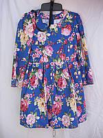 """Платье для девочки (122-140 см) (коттон) цветы Розница """"Odessa Mama"""" M-629"""