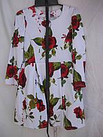 """Платье для девочки (122-140 см) (коттон) розы Розница """"Odessa Mama"""" M-629"""