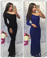Женское  длинное платье с одним рукавом