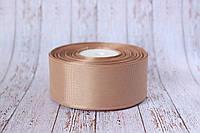 Репсовая лента 4 см, 25 ярд/рулон, кофейного цвета