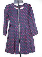 """Платье для девочки (122-140 см) (коттон) горох """"Odessa Mama"""" M-629"""
