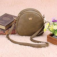 Женская сумочка через плечо (болотная)