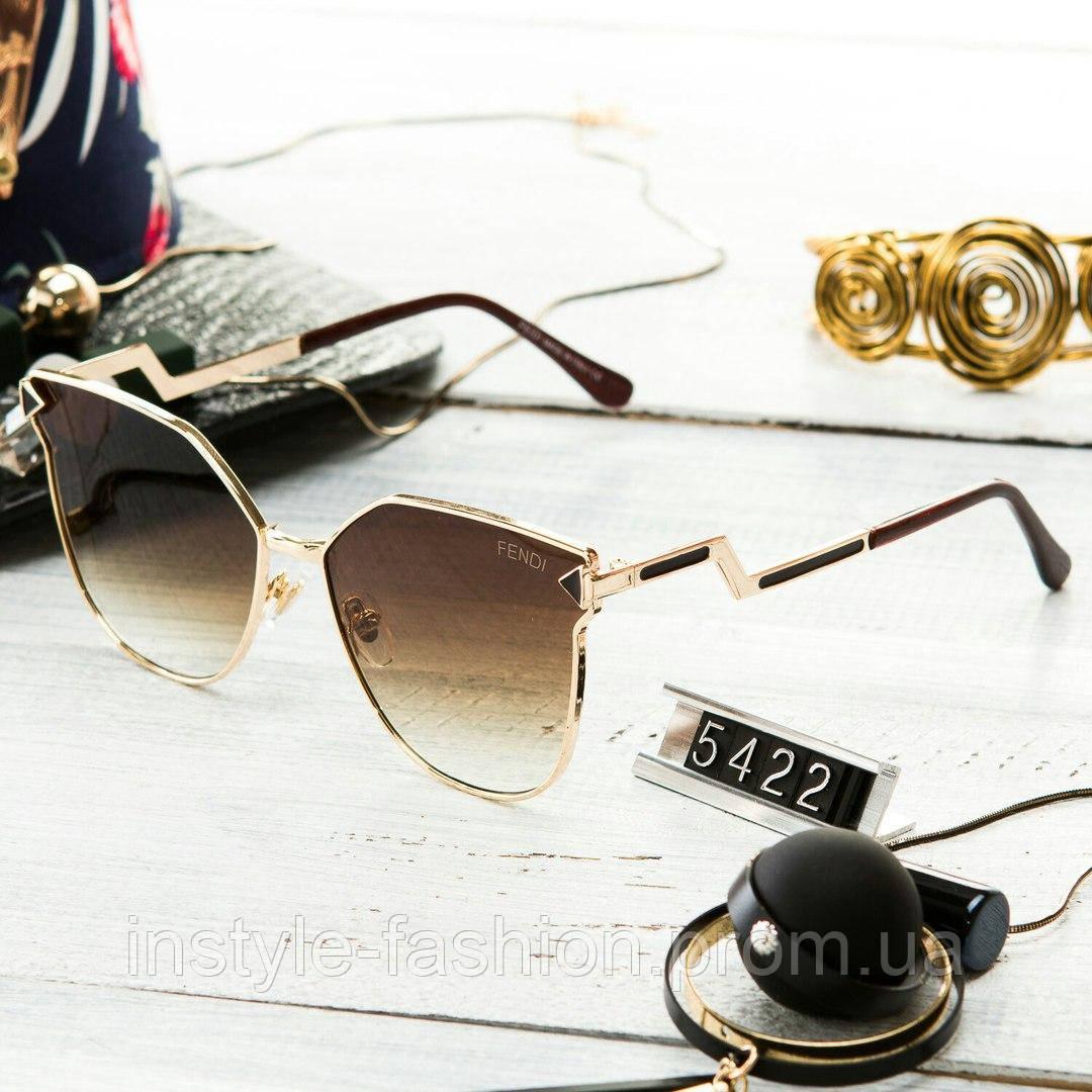 e0b58e98bd78 Женские брендовые очки Фенди Fendi коричневые - Сумки брендовые, кошельки,  очки, женская одежда
