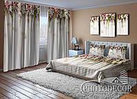 """Фото Комплект для спальни """"Ламбрекены из цветов"""""""