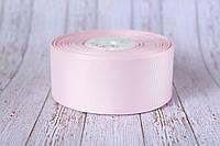 Репсовая лента 4 см, 25 ярд/рулон, бледно-розового цвета
