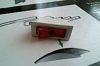 Переключатель белый узкий с красной клавишей