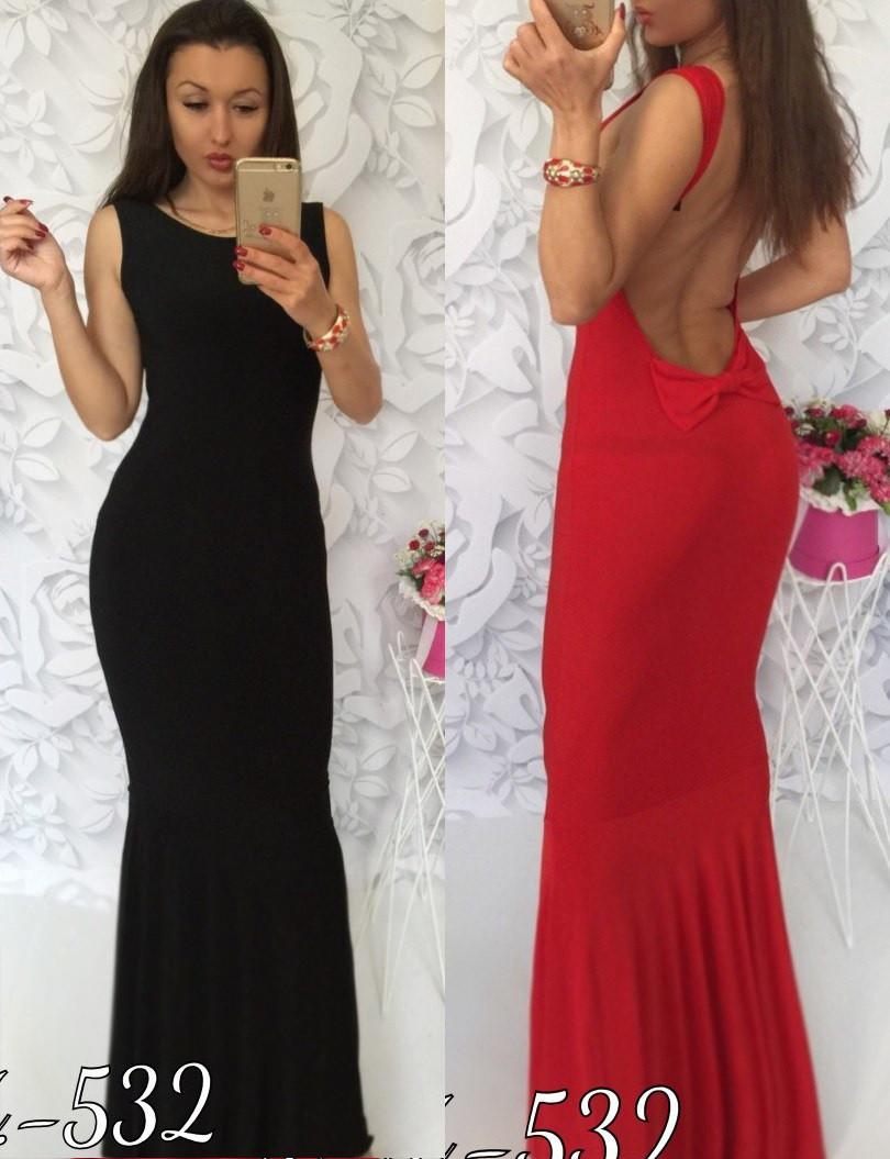 981f134ba83 Женское длинное платье с открытой спиной -