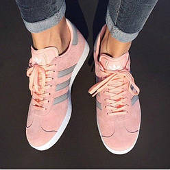 Женские Кроссовки Adidas Gazelle Pink / Light Green