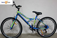 Велосипед 24'' Discovery FLINT 2017 сине-черно-зеленый