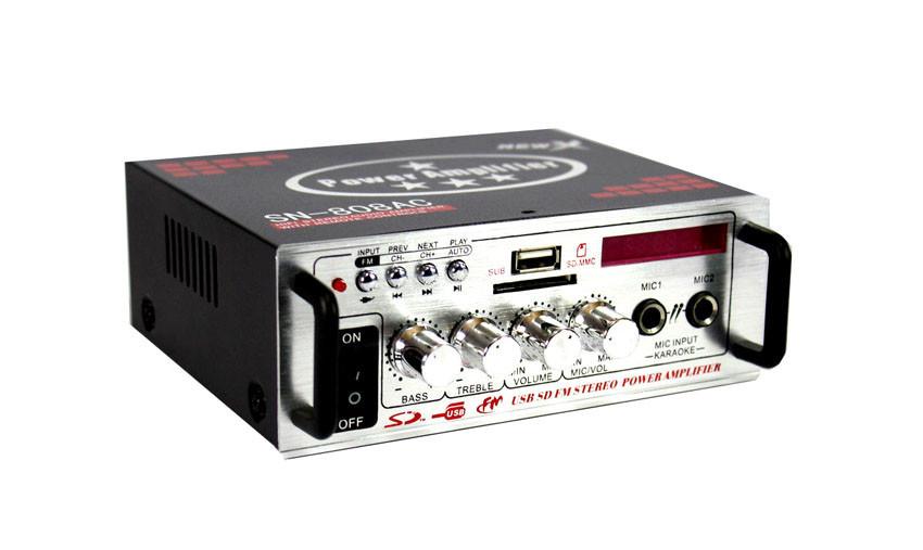 Усилитель AMP 808  + ПОДАРОК: Настенный Фонарик с регулятором BL-8772A