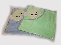 Детское полотенце с капюшоном 100х100, махра