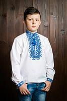 Качественная детская вышитая рубашка с манжетами на мальчика
