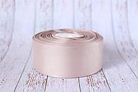 Репсовая лента 4 см, 25 ярд/рулон, серо-кофейного цвета